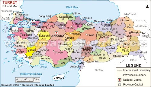 Map Of Turkey Travel Guide - Map of turkey